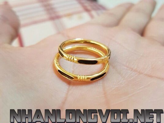 nhan long voi vang don 18k 01