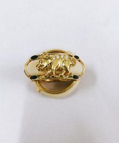 Nhẫn Vàng 18k Ốp Hình Con Heo Cực Đẹp