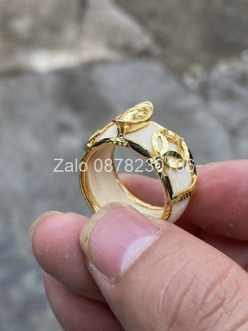 nhẫn thỏi vàng kim tiền vàng 18k