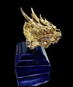 nhẫn đầu rồng vàng