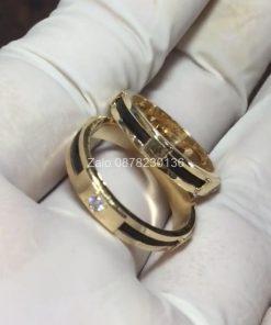 nhẫn cưới lông đuôi voi vàng 18k