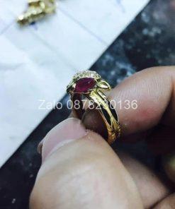 nhẫn hồ ly luồng lông voi vàng 18k