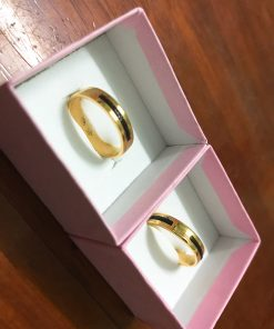 cặp nhẫn lông voi làm tay vàng tây 18k610