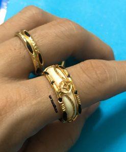 nhẫn lông voi kim tiền vàng đeo ngón trỏ